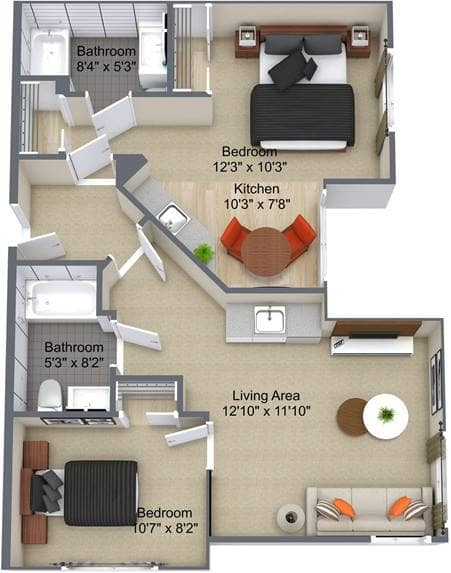 The Edgemont 2Bedroom