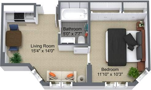 The Edinburgh 1 Bedroom