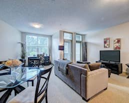 Model Suite, Living Room, The Heartland, Okotoks