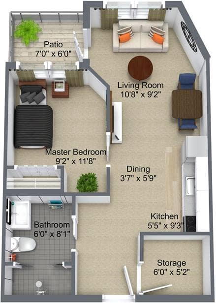 The Heartland 1 Bedroom