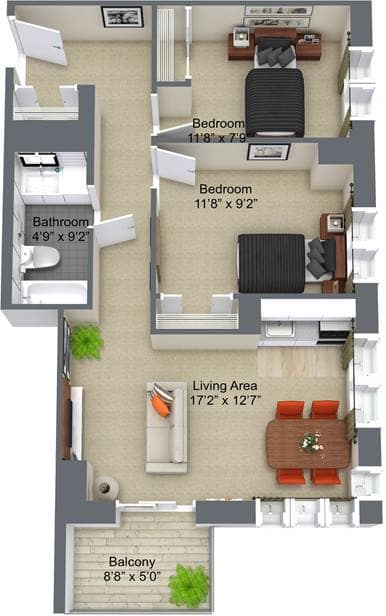 The Kensington 2 Bedroom