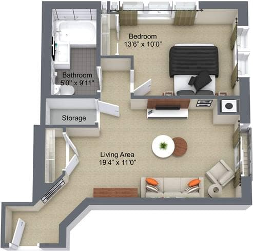 The Renoir, 1Bedroom