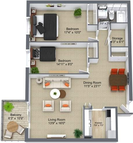 The Village Seniors' Community 2 Bedroom