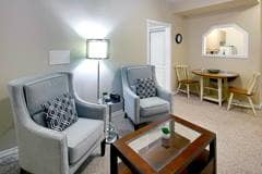 Model Suite, Living Room, Trafalgar Lodge, Oakville