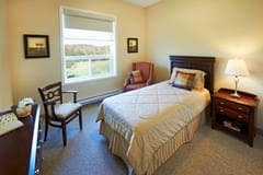 Model Suite, Bedroom, Trillium Court, Kincardine