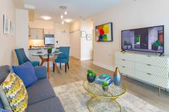 Model Suite, Living Area, Westney Gardens, Ajax