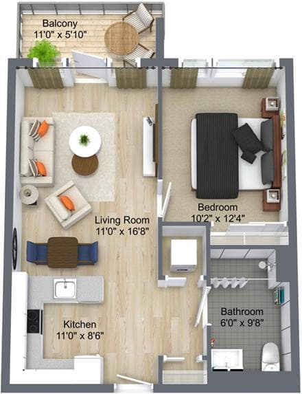 Westney Gardens 1 Bedroom