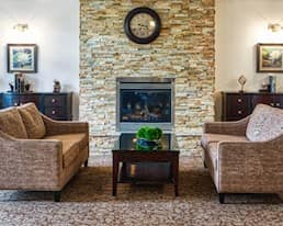 Fireside Lounge, Windsor Park Retirement Residence, Ottawa